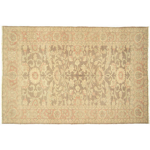 "6'x8'11"" Egyptian Sultanabad Rug, Brick/Multi"