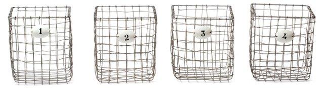 Asst. of 4 Numbered Storage Baskets
