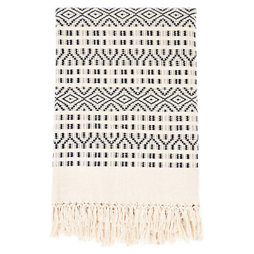 Chiapas Throw, Black