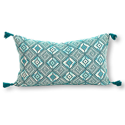 Cardinal Points 12x20 Pillow, Green