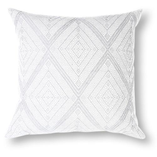 San Andres 18x18 Pillow, Light Gray
