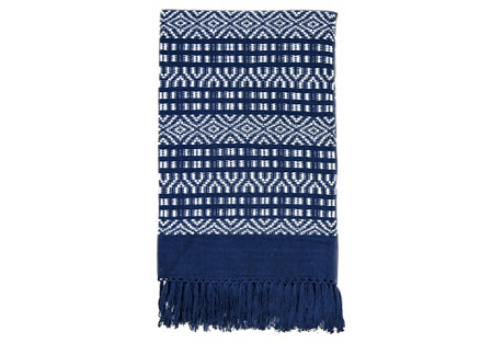 Chiapas Throw, Indigo