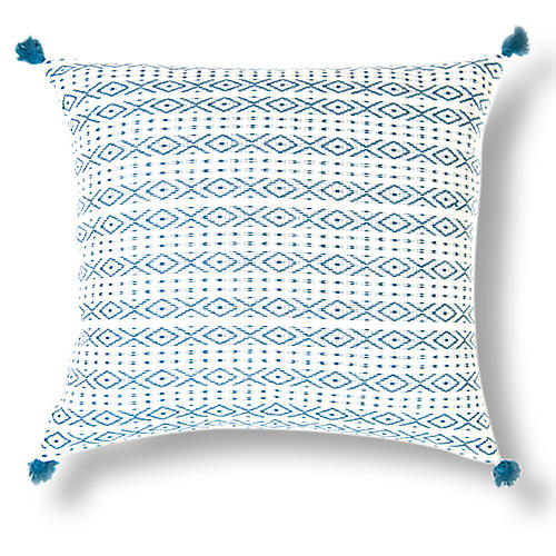Zincantán 18x18 Pillow, Teal