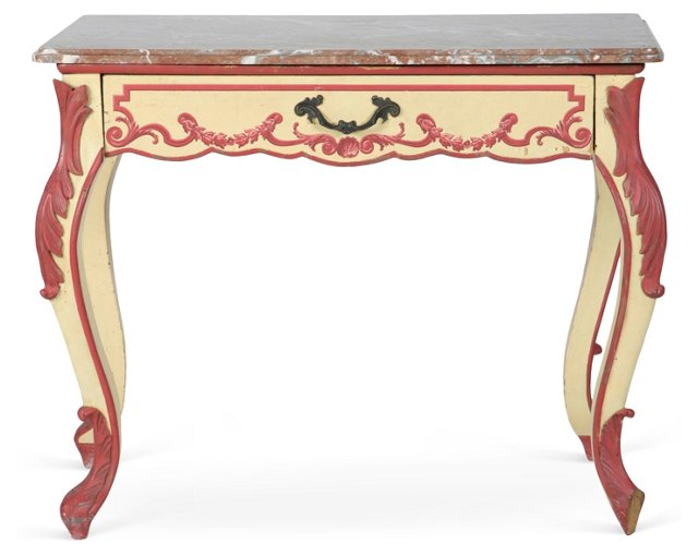 Console Table w/ Marble Top II