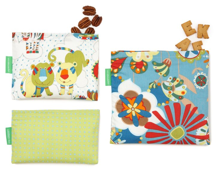 3-Piece Jungle Friends Bag Set