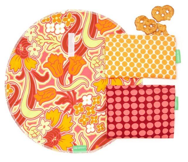3-Piece Wrap Set, Tangerine Tango