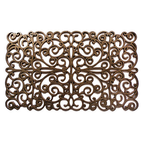 "1'6""x2'6"" Scroll Doormat, Bronze"