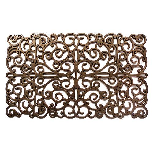 """1'6""""x2'6"""" Scroll Doormat, Bronze"""
