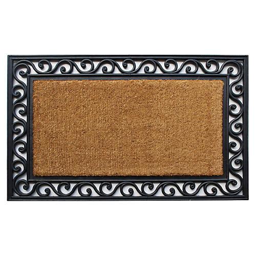 "1'6""x2'6"" Classic Doormat, Black"