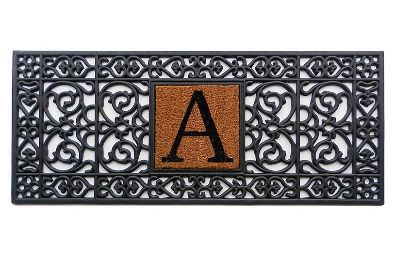 Monogram Doormat, Black