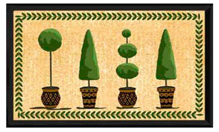 """1'5""""x2'5"""" Topiary Mat, Multi"""