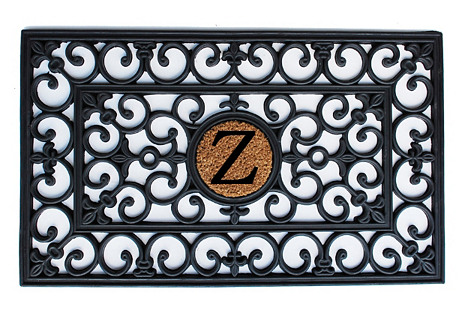 Monogram Doormat, Black