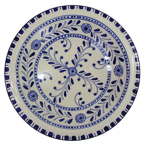 Azoura Serving Bowl, Blue/White