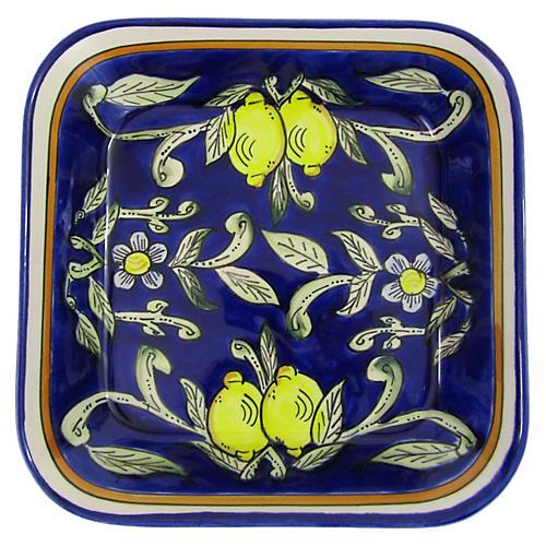 Citronique Square Platter, Deep Cobalt
