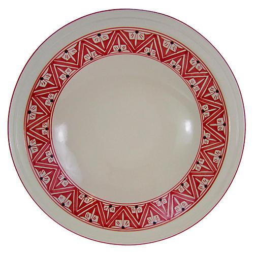 Nejma Serving Bowl, Red/White
