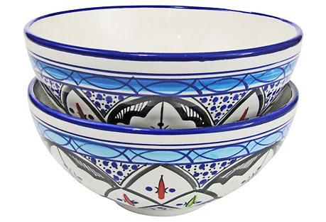 S/2 Medium Deep Stoneware Serve Bowls