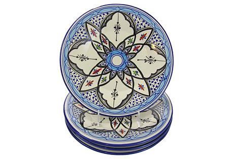 S/4 Stoneware Dinner Plates
