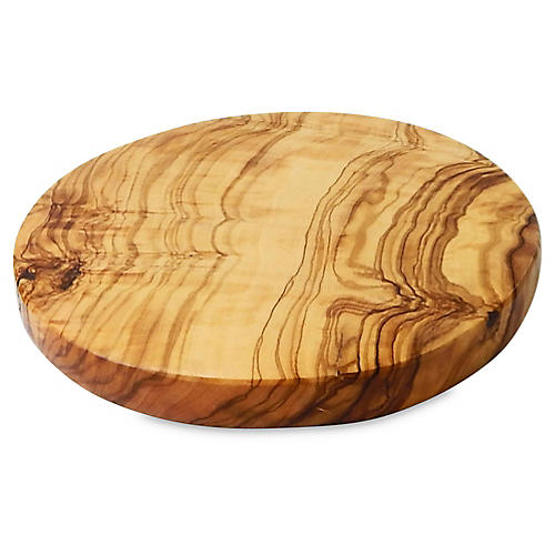 Olivique Round Cutting Board, Natural