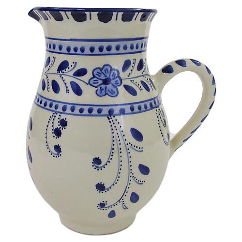 Azoura Pitcher, Blue/White