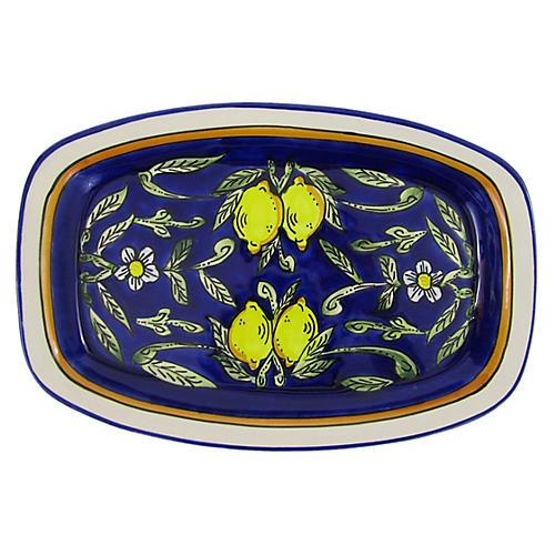 Citronique Rectangular Platter, Deep Cobalt