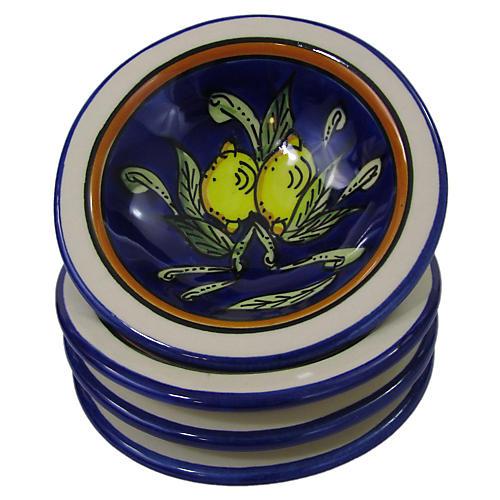 S/4 Citronique Round Sauce Dishes, Deep Cobalt