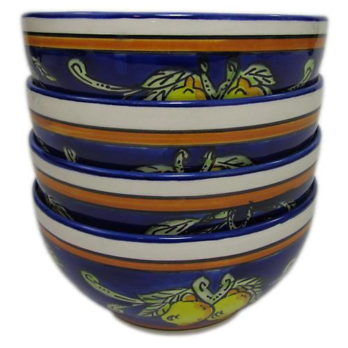 S/4 Citronique Soup Bowls, Deep Cobalt