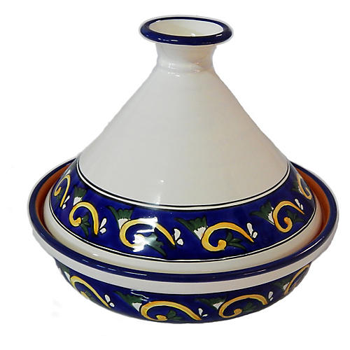Riya Tagine, Blue/White