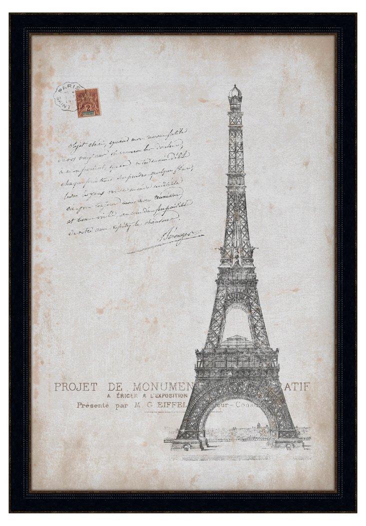 Eiffel Postcard