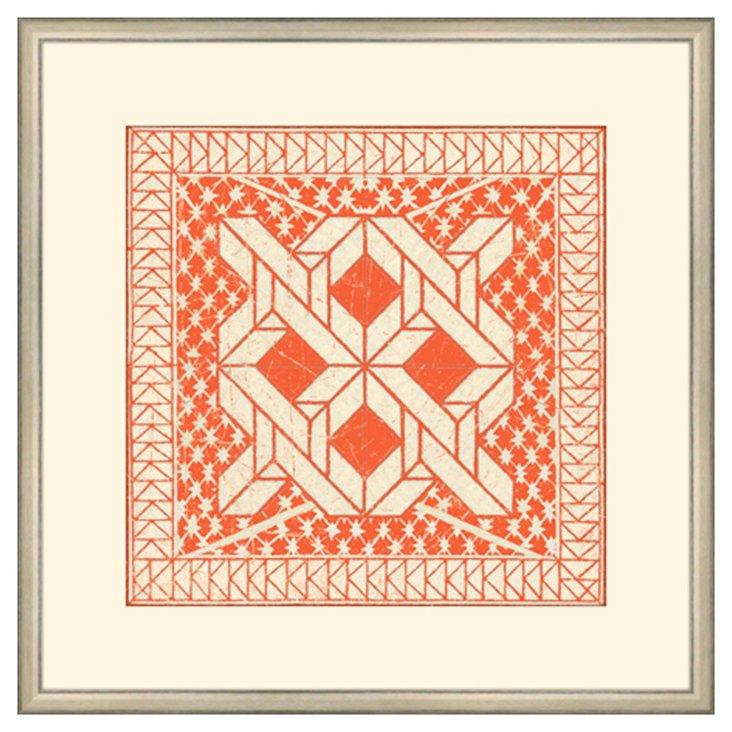 Small Tangerine Tile I