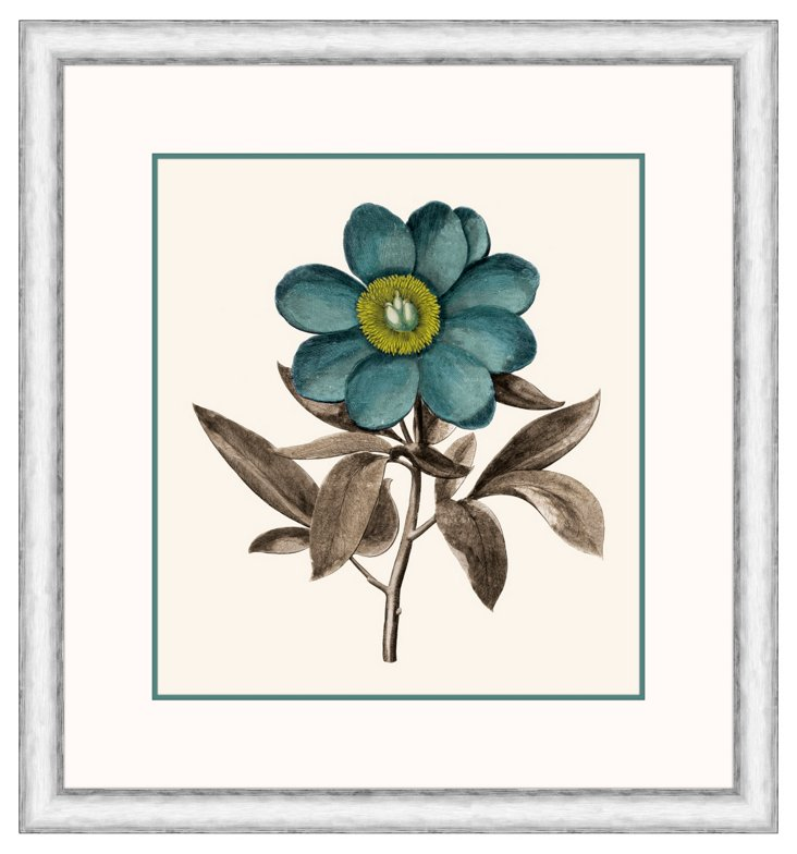 Floral Teal & Green II
