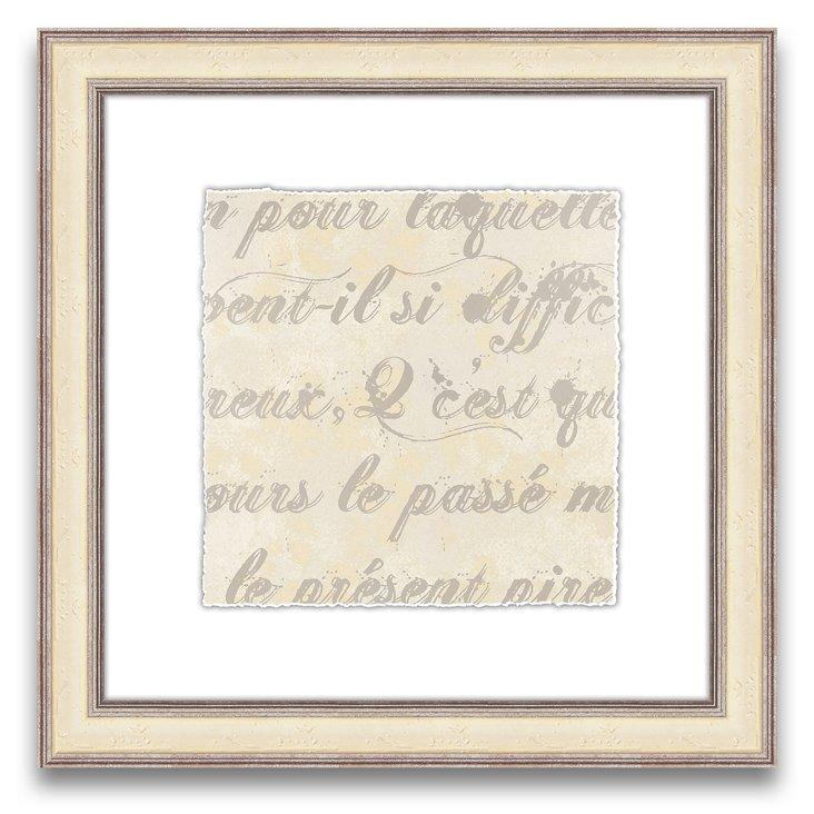 French Writing I