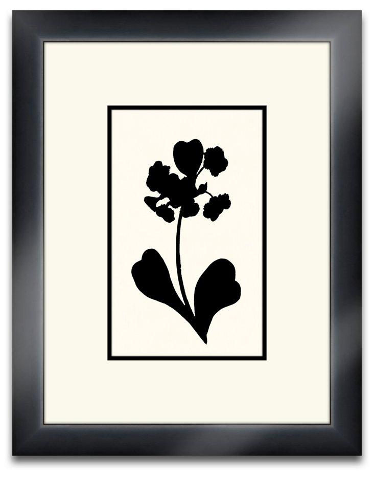 Floral Silhouette Black III