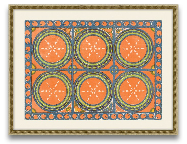 Uzbekistan Patterns, Orange
