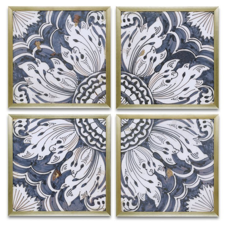 Jason Blue Tiles, Set of 4