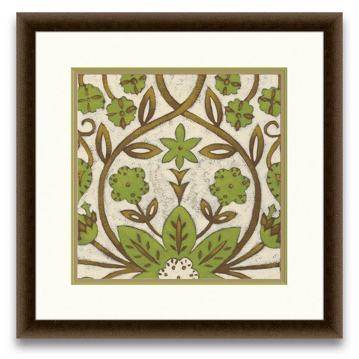 Lotus Tapestry Print I