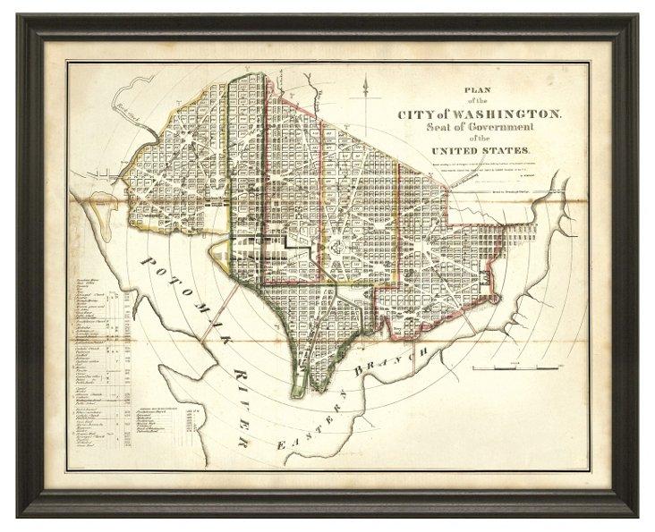 State Map of Washington DC