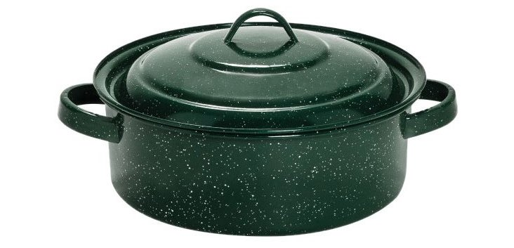 Green Dutch Oven w/ Lid, Green