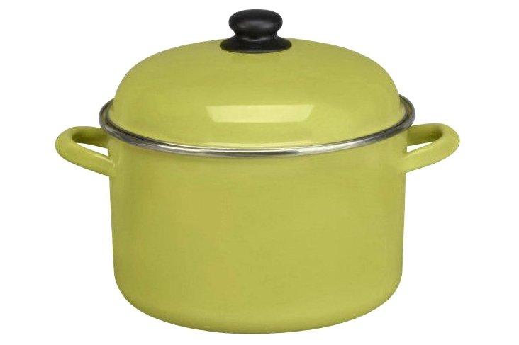 Green Tea Stock Pot w/ Lid, 7 Qt