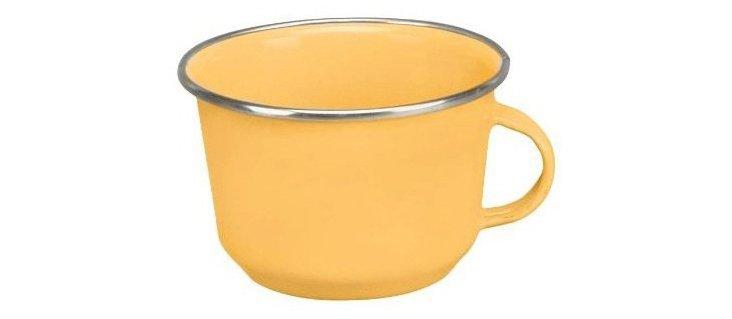S/4 Steel Coffee Cups, Yellow