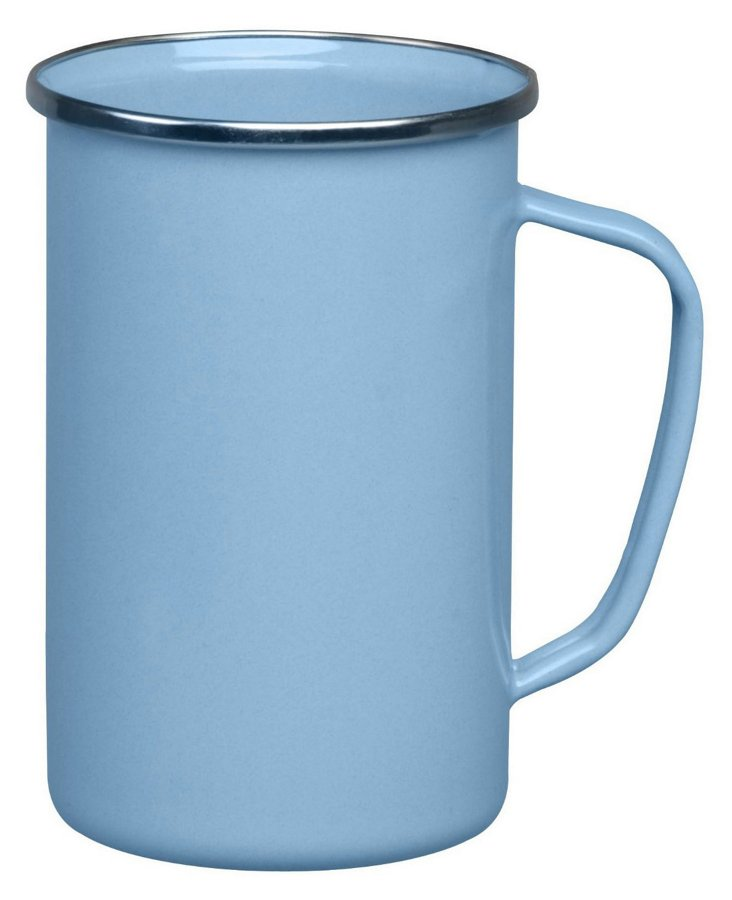 S/4 Steel Tall Coffee Mugs, Blue