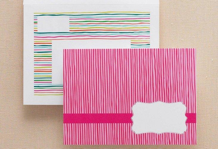 Lemon Tree Paper Pink Stripe Notes