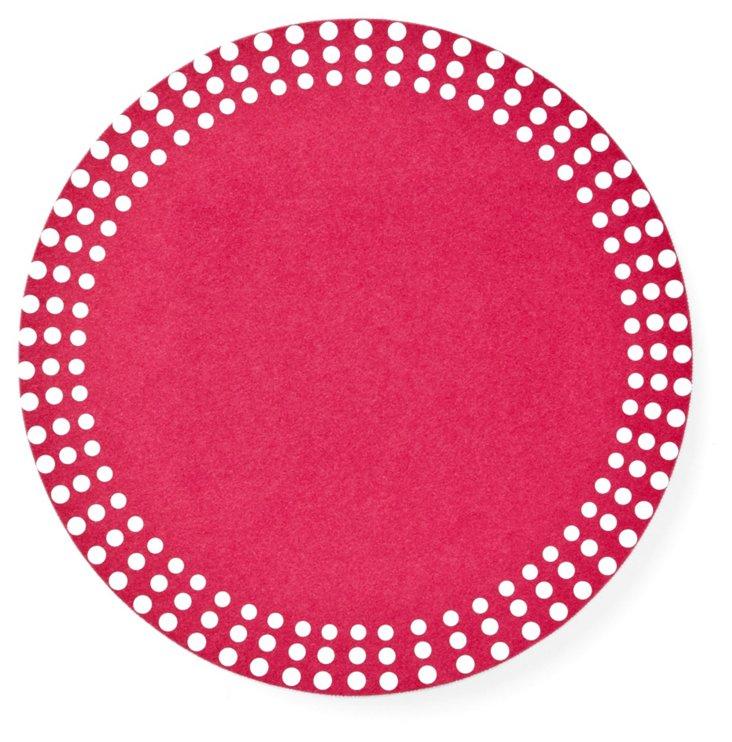 Pink Dots Circle Invitation