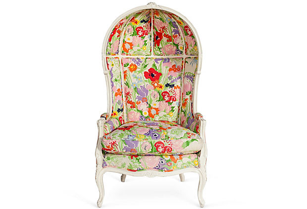 Floral Le Dome Chair kelly wearstler