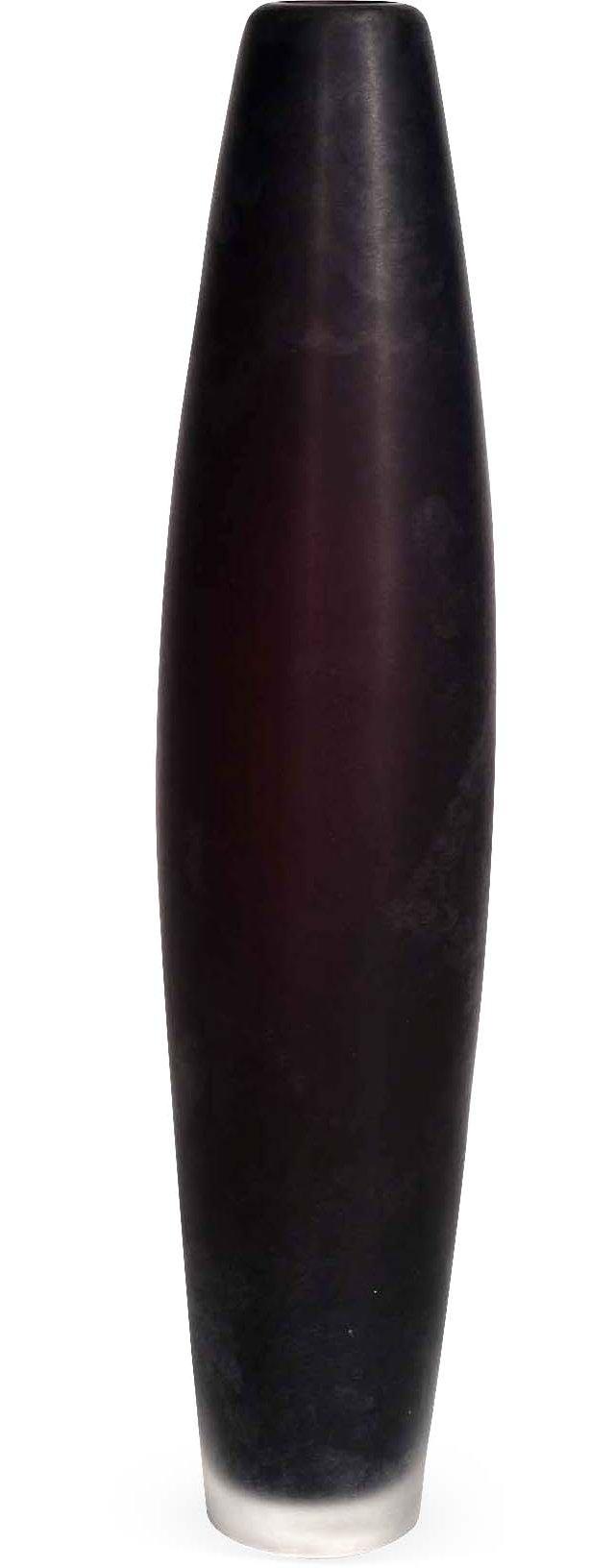 Tall Matte Black Glass Vase