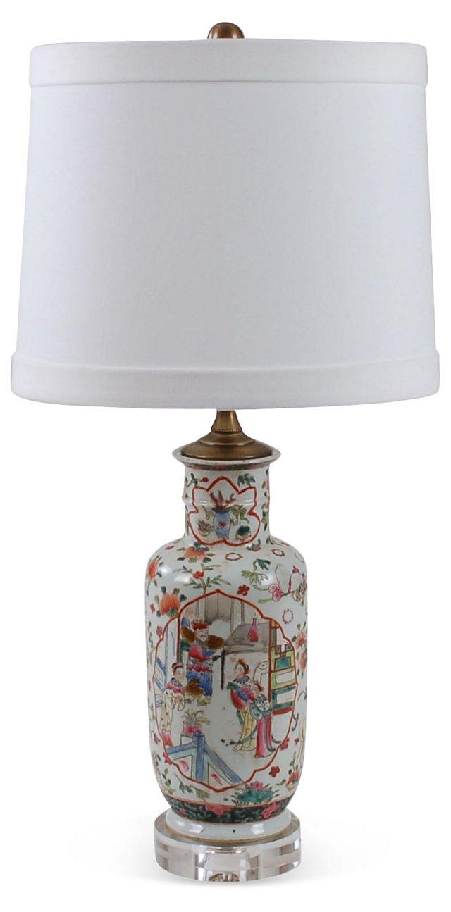 Inez Table Lamp, Floral Motif