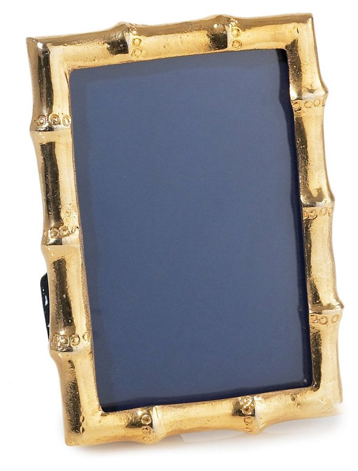 Bamboo Frame, 4x6, Gold
