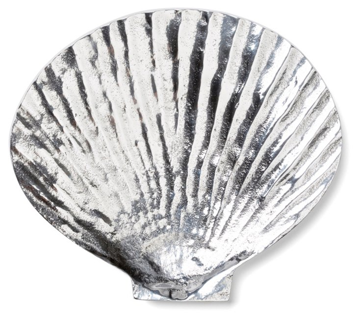 """7"""" Clam Plate, Silver"""
