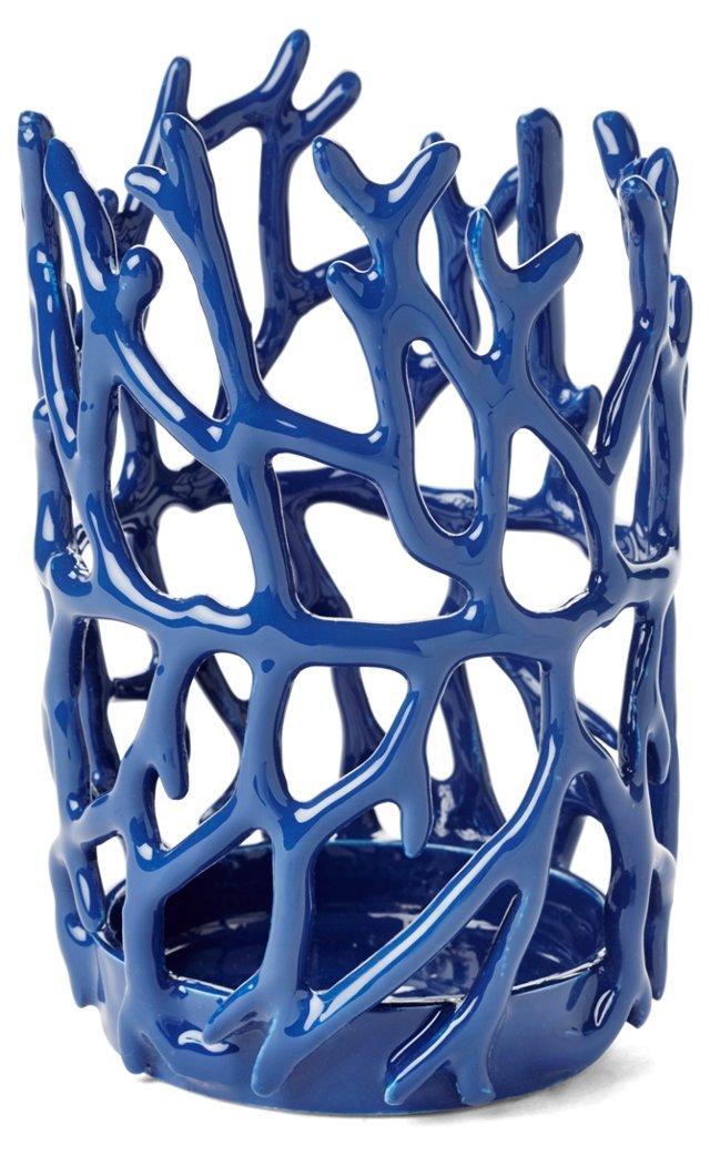 Coral Candleholder, Blue