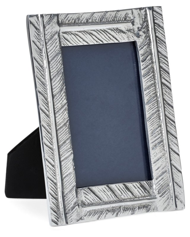 Feather Frame 4x6, Silver