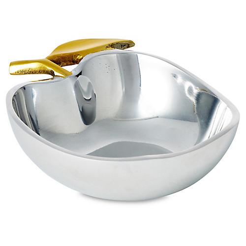 "5"" Apple Bowl, Silver"